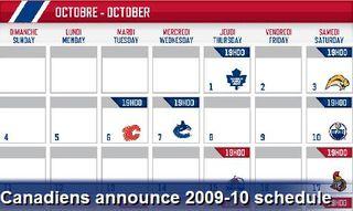 Habs schedule